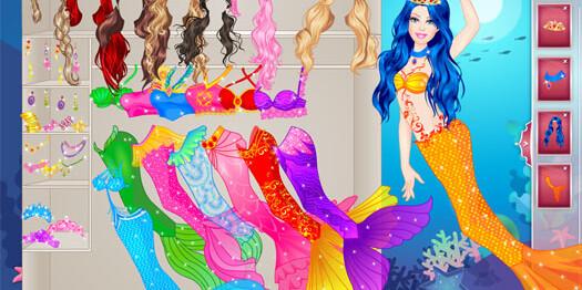Игра Барби русалка для девочек