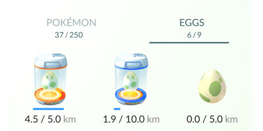Яйца Pokemon Go