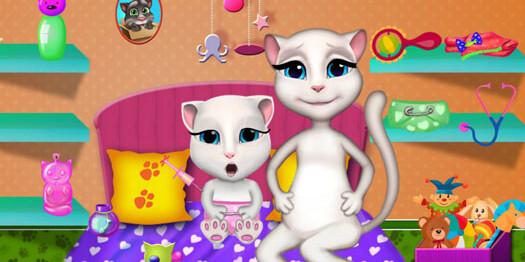 Игра Говорящая Анжела кошка
