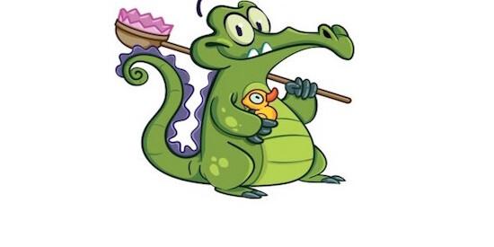 Рисуем крокодильчика свомпи