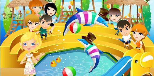 Игра Выступает дельфин 4