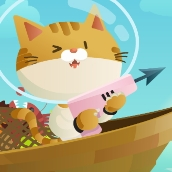 Игра Котик на рыбалке