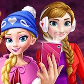 Игра Новогоднее селфи Принцесс