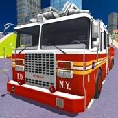 Игра Пожарные машины 3Д: Тушить пожары в городе