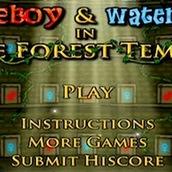 Игра Огонь и Вода 1 в Лесном Храме