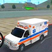 Игра Обучения вождению машиной скорой помощи