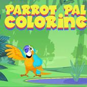 Игра Приятель-попугай: Раскраска