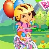 Игра Даша катается на велосипеде