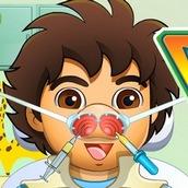 Игра Лечим нос Диего