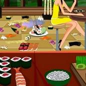 Игра Уборка в кафе с суши