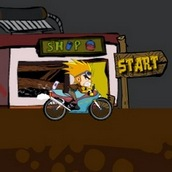 Игра Кик Бутовский катается на мотоцикле