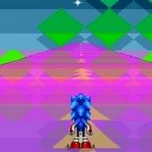 Игра Соник Икс бегает по трассе