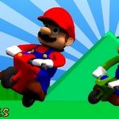 Игра Марио на мотоцикле