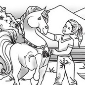 Игра Раскраска Лошади