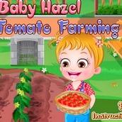 Малышка Хейзел сажает томаты