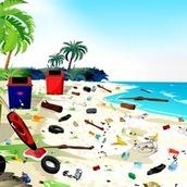 Игра Уборка на пляже