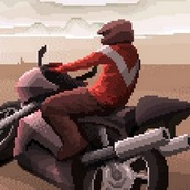 Пиксельная гонка на мотоциклах