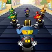 Гонка на байкерских мотоциклах
