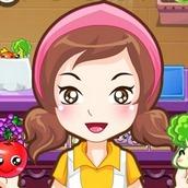 Игра Магазин с овощами и фруктами
