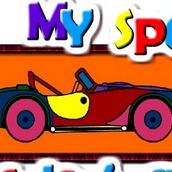 Игра Раскраска спортивного автомобиля