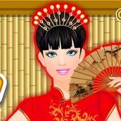 Игра Китайский макияж для Барби
