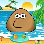 Игра Поу на пляже