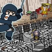Игра Нидзя в богатых подземельях