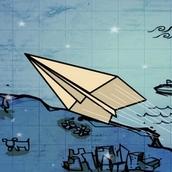 Игра Полёт бумажного самолётика