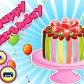 Игра Готовим торт для дня рождения