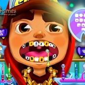 Игра Лечение зубов у Джейка из Сабвей Серф