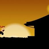 Ниндзя учится бегать как в Сабвей Серф