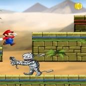 Игра Марио убегает от снарядов
