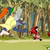 Игра Красная Шапочка бежит, словно в Сабвей Серф