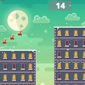 Игра Новогодние прыжки по крышам