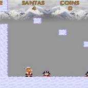 Игра Новогодние приключения Санты в стиле Марио