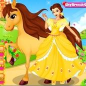 Забота о лошадке принцессы Бель
