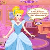 Игра Уборка в комнате принцессы Золушки
