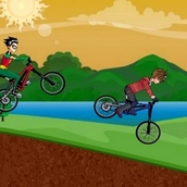 Игра Дэн из «Бакуган» на велогонках