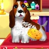 Игра Мыть животных на Рождество