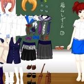 Одевалка в школу для девочек
