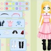 Игра Аниме одевалка для девочек