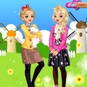 Барби на двоих для девочек
