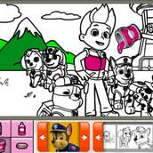 Игра Книга раскрасок с Щенячьим патрулём