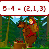 Игра Машенька и мишка учат считать