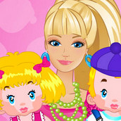 Куколка Барби в роли няни