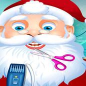 Новогодняя стрижка для Санта Клауса