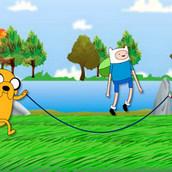 Игра Время приключений: прыжки на скакалке