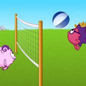 Ежик и Бараш сражаются в волейбол