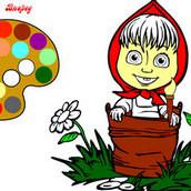 Игра Раскраска Маша в лесу