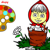 Раскраска Маша в лесу